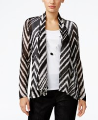 Alfred Dunner Theater District Layered Look Top Black