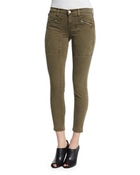 J Brand Jeans Genesis Mid Rise Utility Cropped Pants Distressed Troope Size 26