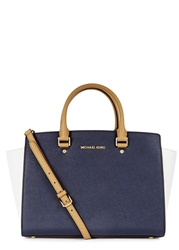 Michael Kors Selma Navy Large Saffiano Leather Tote