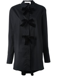 See By Chloe Bow Applique Shirt Dress Black