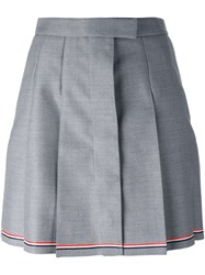 Thom Browne Pleated A Line Skirt Grey