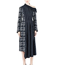 Aganovich Long Pinstripe Dress