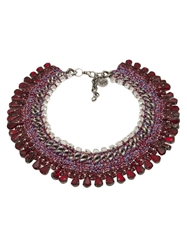 Venessa Arizaga 'Sangria Sunrise' Necklace Red