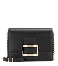Roger Vivier Viv' Nano Leather Shoulder Bag Black