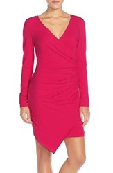 Adelyn Rae Women's Ruched Jersey Sheath Dress Pink