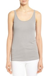 Women's Eileen Fisher Long Scoop Neck Camisole Smoke