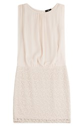 Steffen Schraut Cotton Blend Dress With Lace Rose