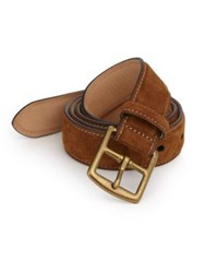 Polo Ralph Lauren Suede Harness Buckle Belt Brown