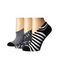 Converse 3 Pack Made For Chucks Teeny Stars Black Black White Marl Black White Women's No Show Socks Shoes Multi