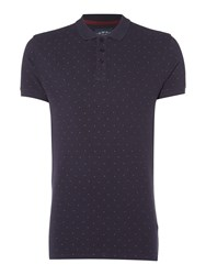 Criminal Men's Trudy Printed Pique Navy