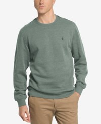 Izod Men's Saltwater Fleece Crew Neck Sweatshirt Darkest Spruce