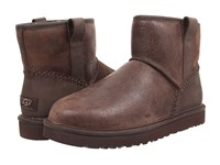 Ugg Classic Mini Stitch Stout Leather Men's Pull On Boots Black