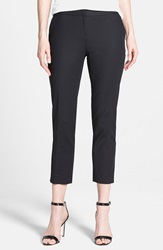 Vince Camuto Stretch Cotton Ankle Pants Petite Rich Black