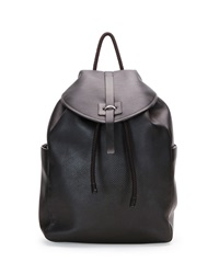 Alexander Mcqueen Stud Skull Leather Backpack Black