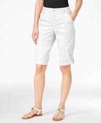 Styleandco. Style Co. Petite Cuffed Skimmer Shorts Only At Macy's Bright White