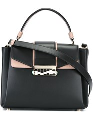 Bulgari Removable Strap Small Tote Black