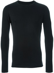 Kris Van Assche Long Sleeve Textured 'Milano' Jumper Black