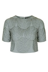 Opal Embellished Top By Tfnc Grey
