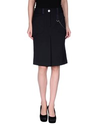 Marithe' F. Girbaud Marithe Francois Girbaud Skirts Knee Length Skirts Women Dark Blue