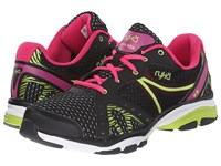 Vida Rzx Black Ryka Pink Lime Blaze Women's Shoes