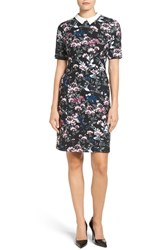 Ivanka Trump Women's Contrast Collar Floral Shirtdress