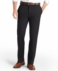 Izod American Classic Fit Wrinkle Free Flat Front Chino Pants Black