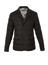 Dolce And Gabbana Quilted Wool Blend Jacket