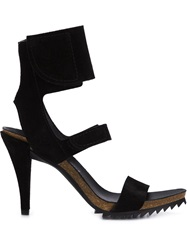 Pedro Garcia Ankle Cuff Sandals Black