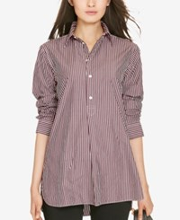 Polo Ralph Lauren Striped Tunic Plum White