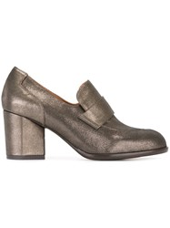 Chie Mihara Metallic Loafer Shoes Brown