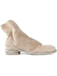Guidi Side Zip Boots Nude And Neutrals