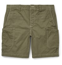 Outerknown Drawstring Organic Cotton Shorts Green