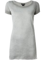 Avant Toi Round Neck Long T Shirt Grey