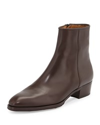 Gravati Low Heel Zip Ankle Boot Brown Size 36.5B 6.5B