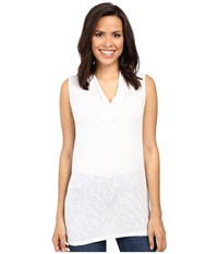 Splendid Slub Cowl Neck Tank Top White Women's Sleeveless
