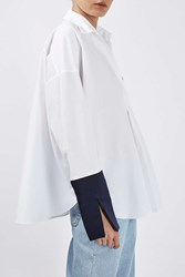 Boutique Contrast Oversized Shirt By Multi