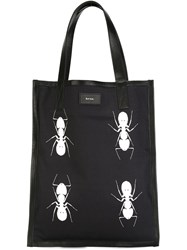 Paul Smith Ant Print Tote Blue