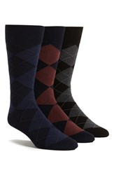 Men's Polo Ralph Lauren Argyle Socks Blue 3 Pack Nvy Burg Nvy Blu Blk Chr