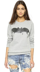 Zoe Karssen Bat Pullover Grey Heather Pirate Black