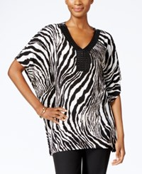 Jm Collection Zebra Print Beaded Tunic Only At Macy's Spirit Animal