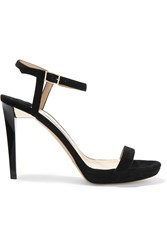 Jimmy Choo Claudette Suede Platform Sandals