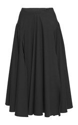 Blumarine High Waisted Double Slit Pleated Skirt Black