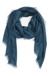 Nordstrom Women's Cashmere And Silk Wrap Blue Wing