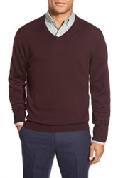 Bonobos Standard Fit Merino Wool V Neck Sweater Red