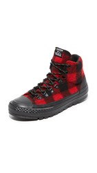 Converse Chuck Taylor All Star Street Hiker Sneakers Black Red Black