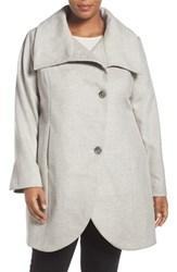Tahari Plus Size Women's Asymmetrical Coat