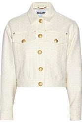 Moschino Boucle Tweed Jacket White