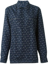 Lanvin Casual Shirt Straight Contrast Piping Blue