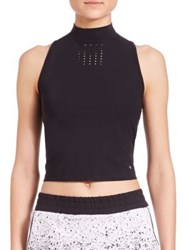 Koral The Day After Yesterland Punch Crop Top Black
