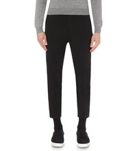 Mcq By Alexander Mcqueen Doherty Tapered Stretch Wool Trousers Darkest Black